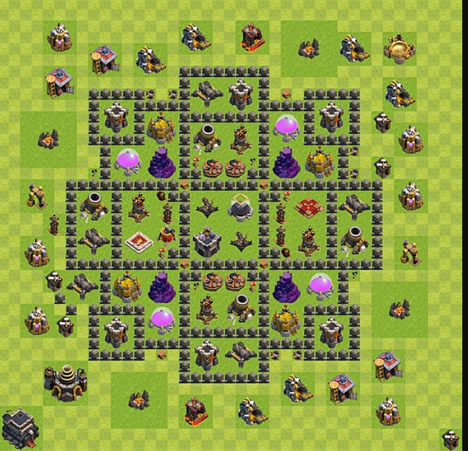 Расположение базы в Clash of Clans